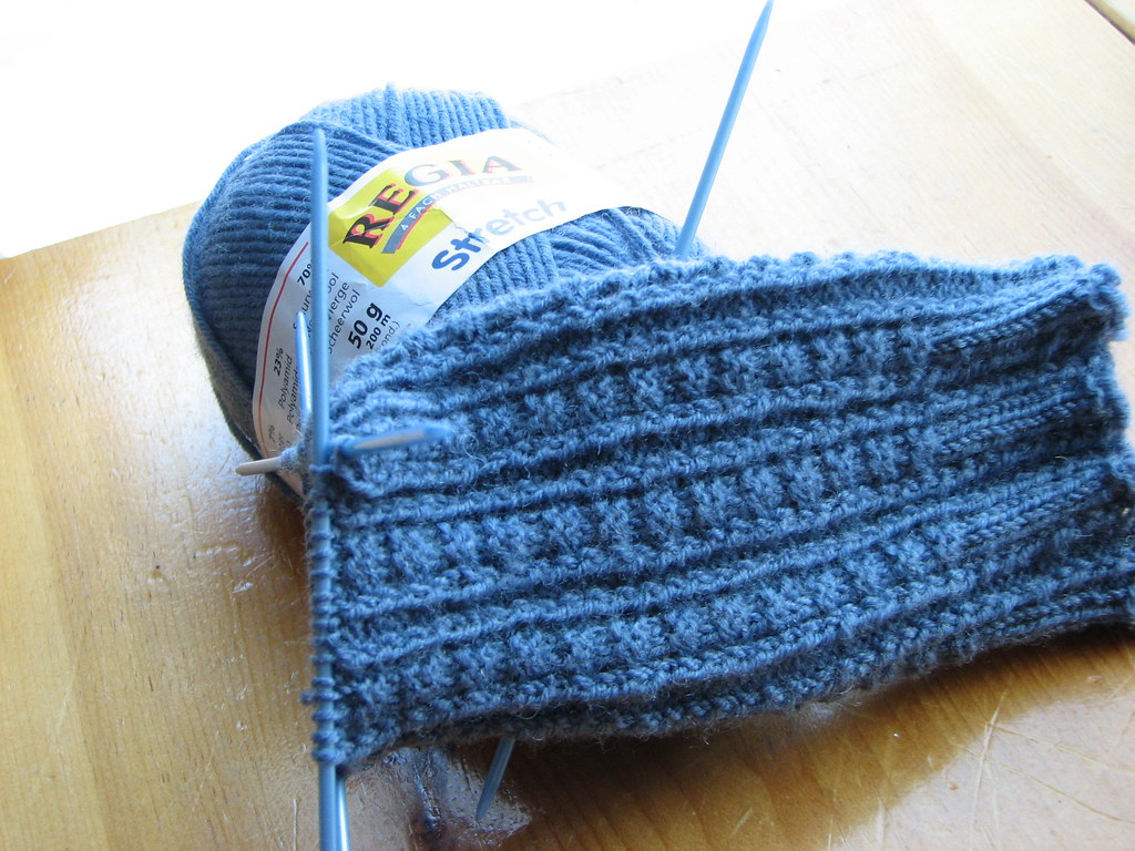 Retro Rib Sock in progress