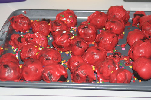 Cake Balls made by the kidlets
