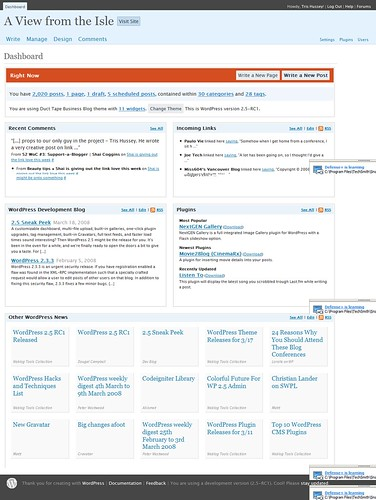 WordPress 2.5 GUI