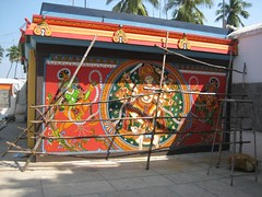 Painting at the entrance - Shiva Dancing