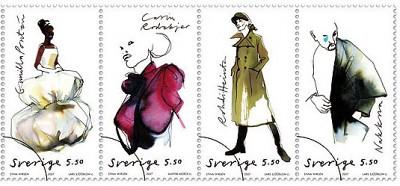 swedish fashion stamps