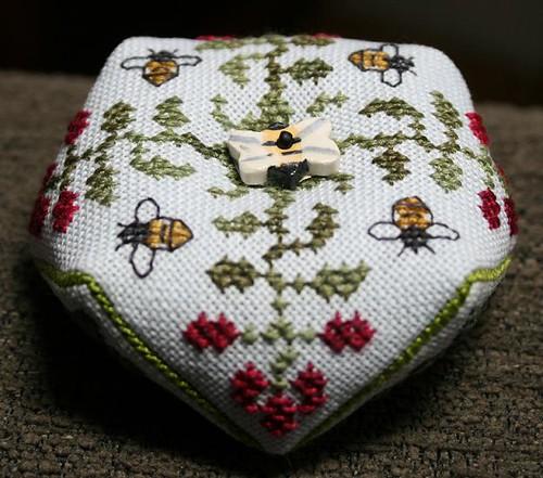 Bee Biscornu Front