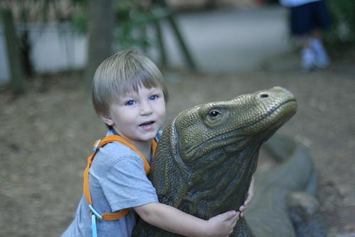 Hug the lizard