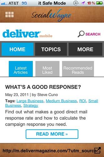 Deliver magazine QR code scan