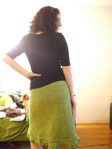 sawtooth skirt back
