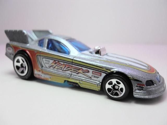 hot wheels mustang funny car silver (2)