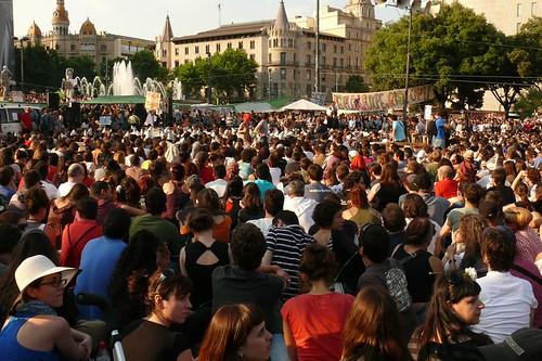 """foto """"Indignados , Plaça de Catalunya (86)"""" by calafellvalo  - flickr"""