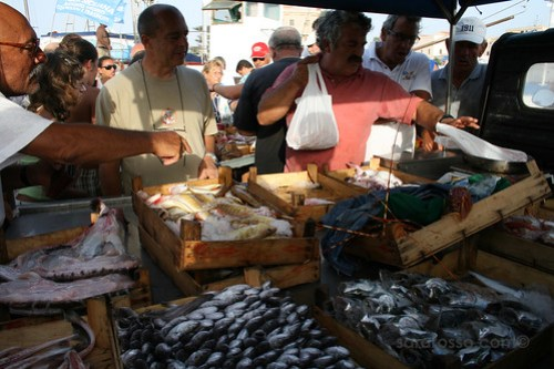 Fishmonger at Favignana, Sicily