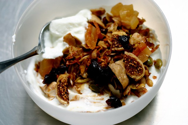 yogurt with pepita granola and pumpkin butter