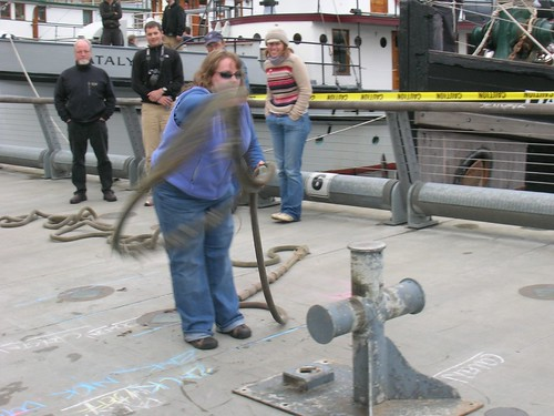 Bollard Lasso on the Historic Ships Wharf during the Classic Workboat Show; photo courtesy Northwest Seaport and Wayne Palsson