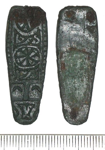 Trewhiddle-style strap-ends found in Shropshire, online courtesy of the Portable Antiquities Service