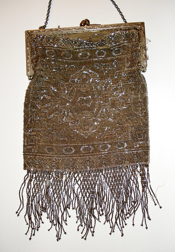 Antique beaded handbag - front