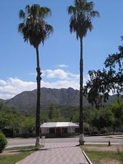 La Place principale de San Augustin. La pre cordillère en toile de fond
