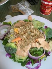 Salad from Jason's Deli salad bar