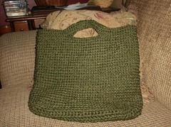 Crocheted Keyhole Tote Bag