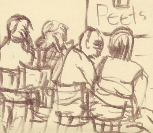 Coffee drinkers at Peets
