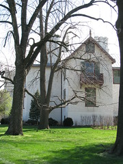 The west elevation of President Lincoln's Cottage in early April 2008.