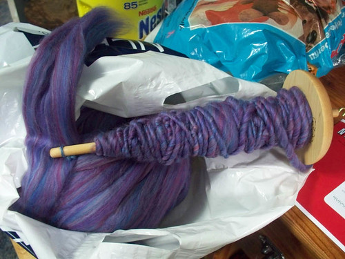 Handspun yarn - Amathyst