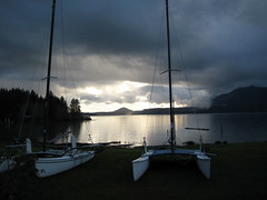 Lake Quinault at sunset