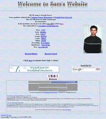 My website (circa 2000)
