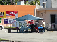 A pincho stand at the side of the road