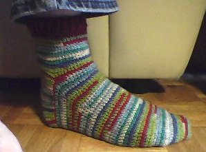 Crocheted Carnival Socks