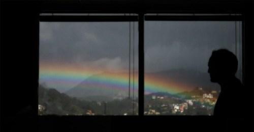 rainbow from office