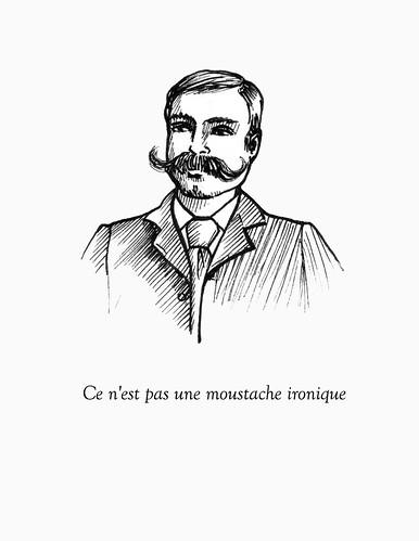 ce n'est pas une moustache ironique