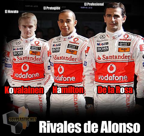 Pilotos McLaren Mercedes