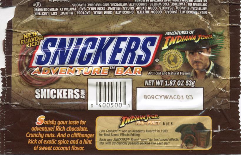Indy Jones Snickers