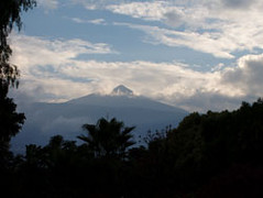 Storm clouds over Mount Teide