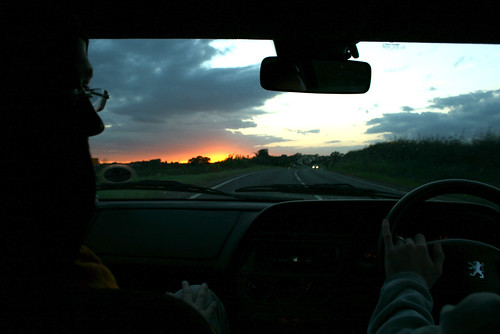 Sunset Drive from York to Harrogate