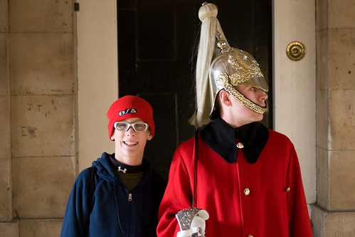 Matthew with the guard