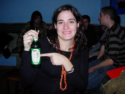 Lidia con cerveza