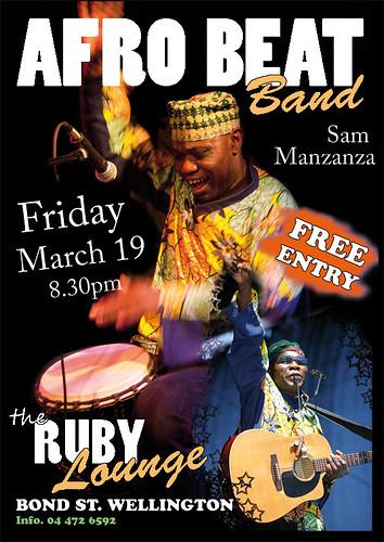 Afro Beat Band - Ruby Lounge