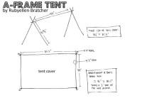 DIY: A-frame tent : CAKIES