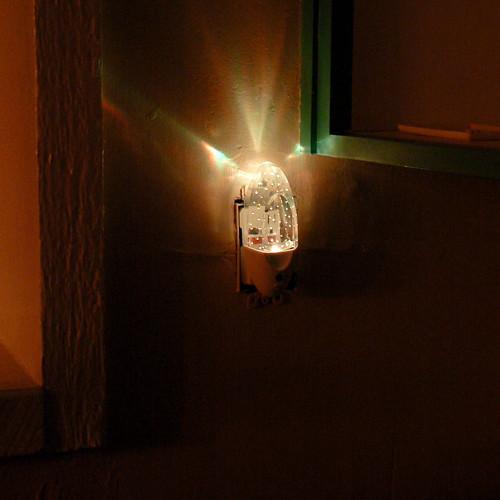 The glow of the nightlight