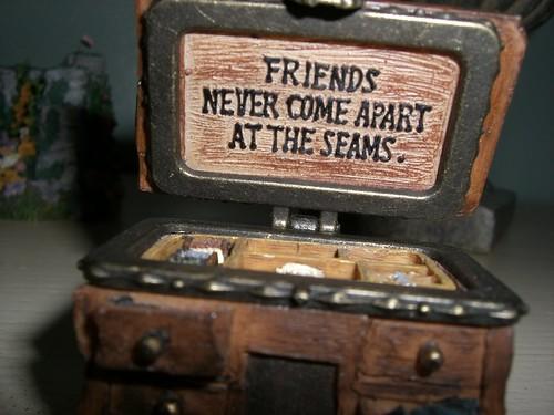 Inside Boyd's Bear sewing chest