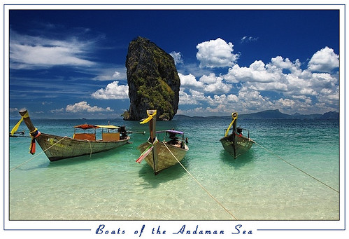 Boats of the Andaman sea by orvaratli