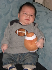 our little linebacker