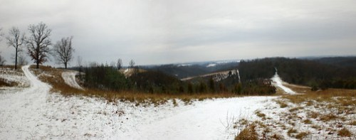 snowy Hill Top Panorama