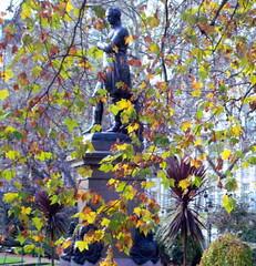 Statue and Foliage