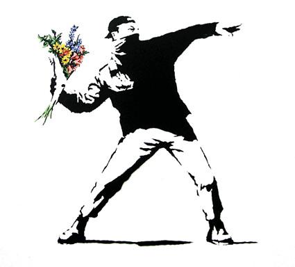 Banksy - Flowers