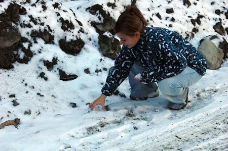En la excursión del sábado encontramos nieve