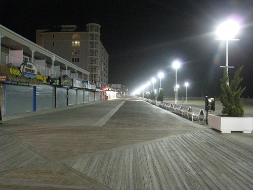 the vacant boardwalk