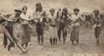 Igorots perform a traditional dance cañao canyaw  Philippine Buhay Pinoy Noon old pictures photograph black and white Philippines  Filipino Pilipino  people photos life Philippinen indigenous tribe dancing ganza gansa