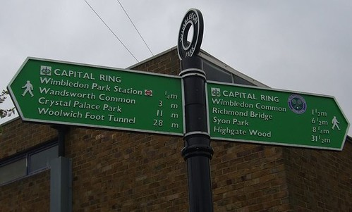 Capital Ring Distance Sign