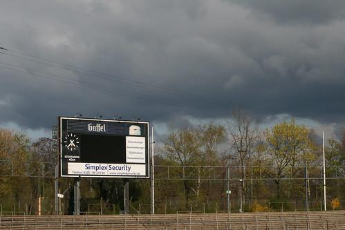 Anzeigetafel im Südstadion
