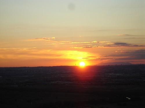 Puesta de sol sobre Madrid