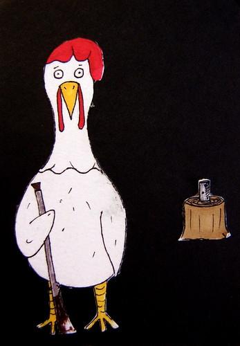 Chicken w/ Gun